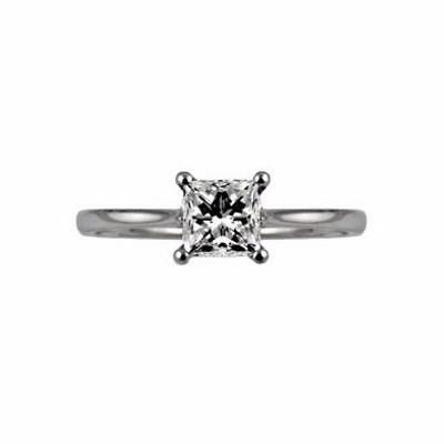Princess Cut Single Stone Diamond Ring 1.00ct HVS2 HRD